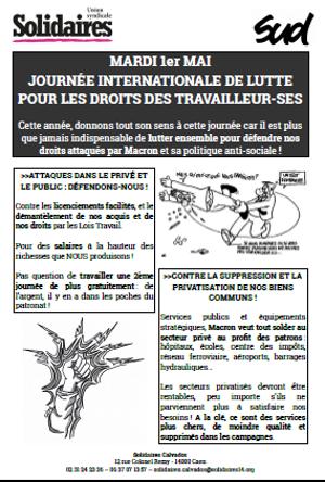 1er Mai Journee Internationale De Lutte Pour Les Droits Des