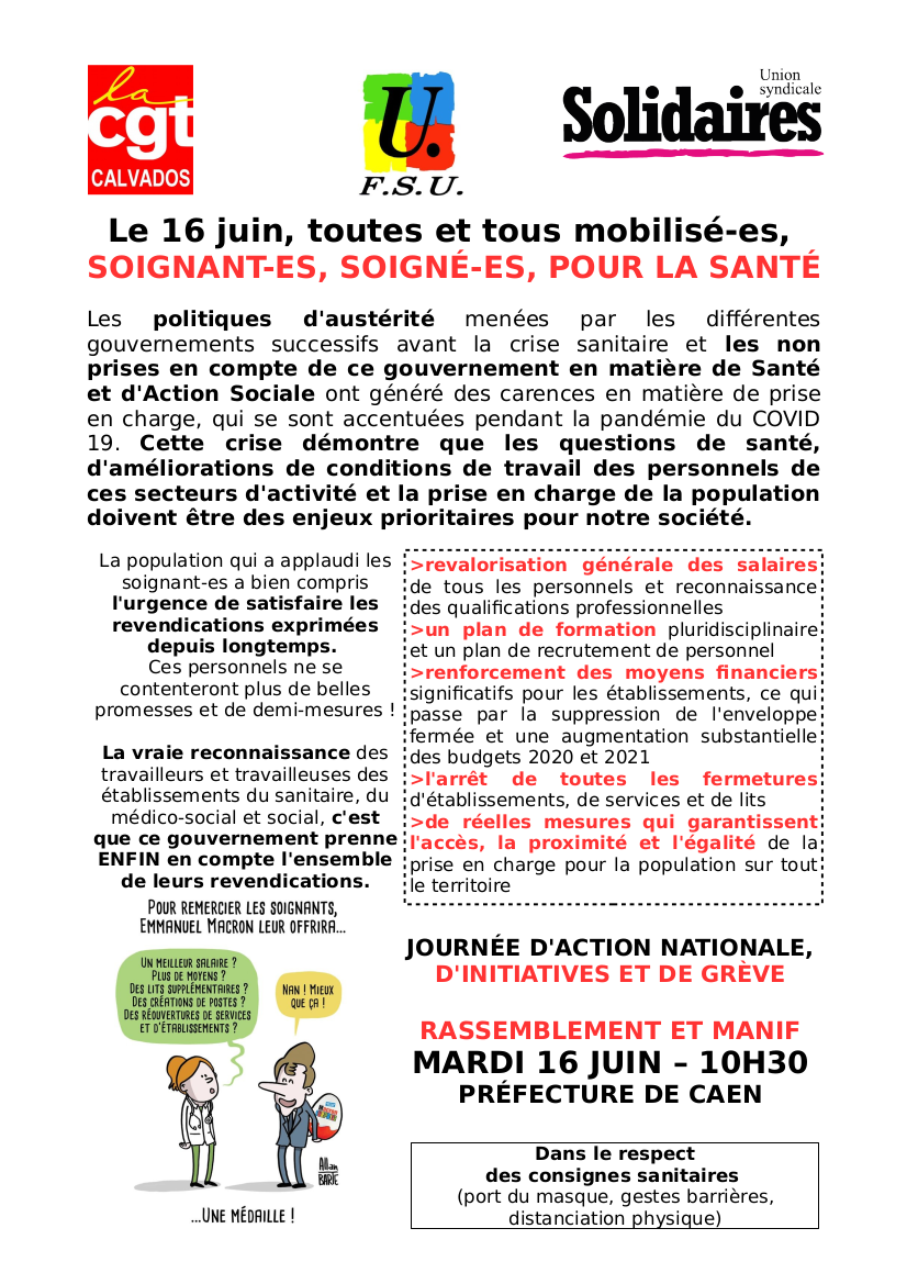 tract intersyndical - 16 juin 2020
