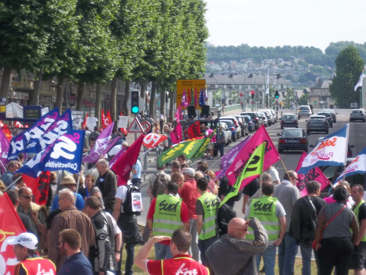 Manifestation cortège sud solidaires